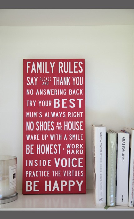 Family Rules example 2